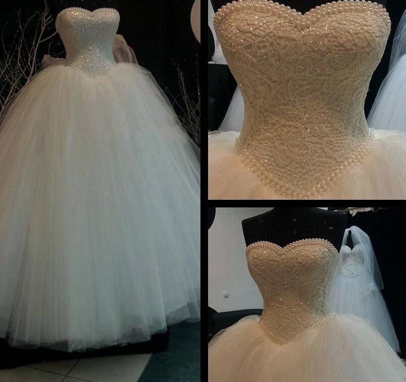 Dlhé svadobné šaty - 16 veľkostí, 2 farby - Obrázok č. 2