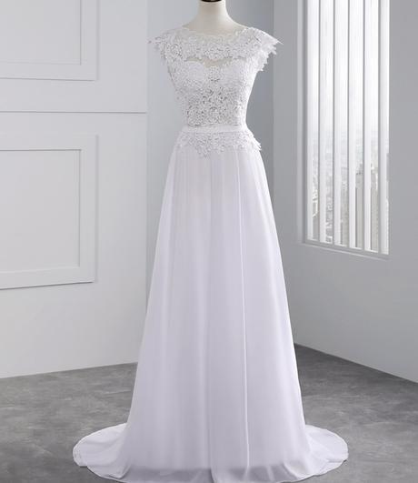 Dlhé svadobné šaty - 10 veľkostí, 2 farby - Obrázok č. 2