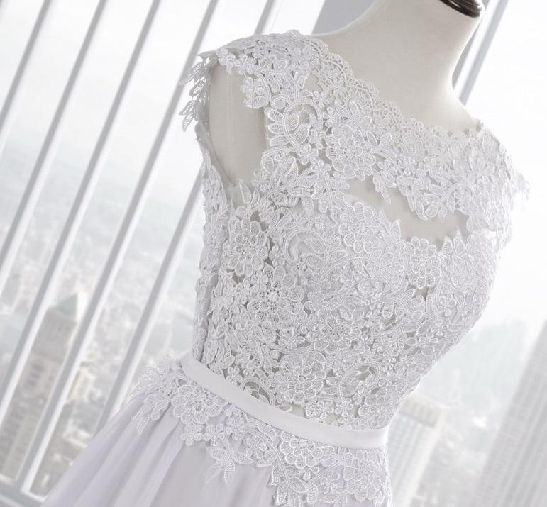 Dlhé svadobné šaty - 10 veľkostí, 2 farby - Obrázok č. 3