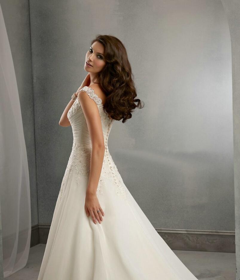 Dlhé svadobné šaty - 12 veľkostí, 3 farby - Obrázok č. 2
