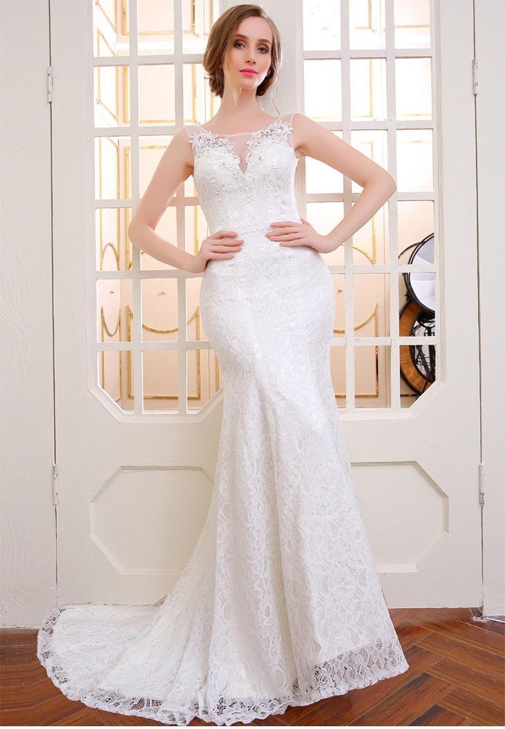 Dlhé svadobné šaty - 14 veľkostí, 3 farby - Obrázok č. 1