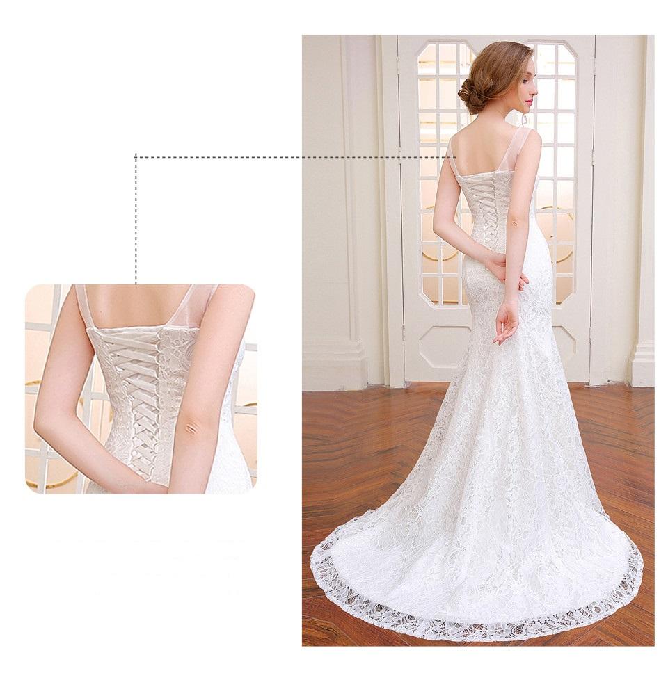 Dlhé svadobné šaty - 14 veľkostí, 3 farby - Obrázok č. 2