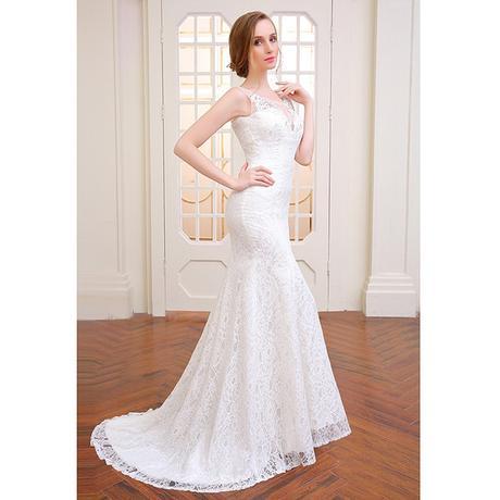 Dlhé svadobné šaty - 14 veľkostí, 3 farby - Obrázok č. 4