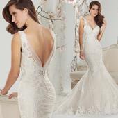 Dlhé svadobné šaty - 7 veľkostí, 38