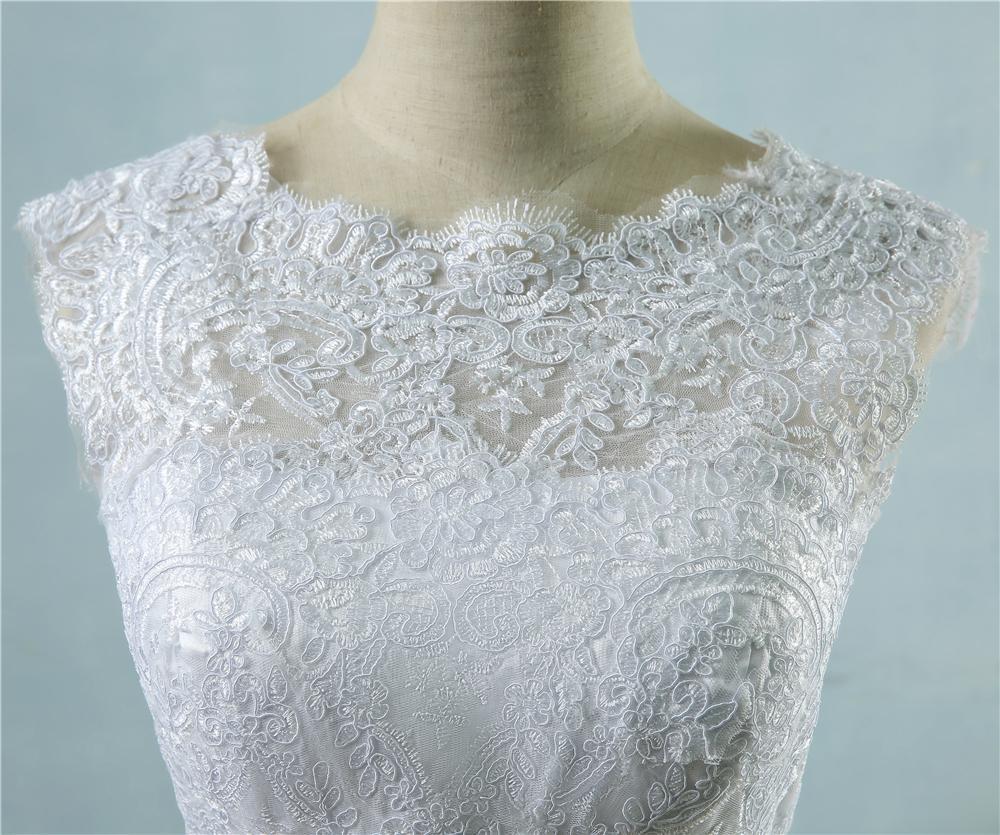 Dlhé svadobné šaty - 14 veľkostí, 2 farby - Obrázok č. 3