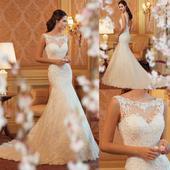 Dlhé svadobné šaty - 8 veľkostí, 46