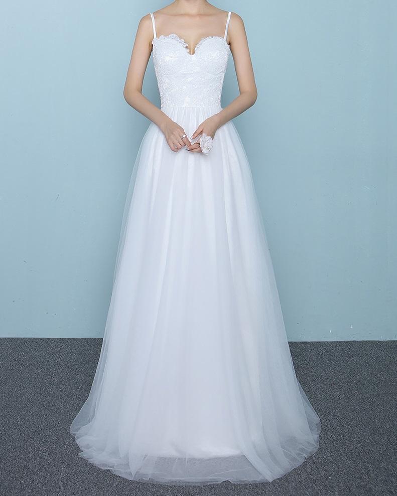 Dlhé svadobné šaty - 10 veľkostí - Obrázok č. 1