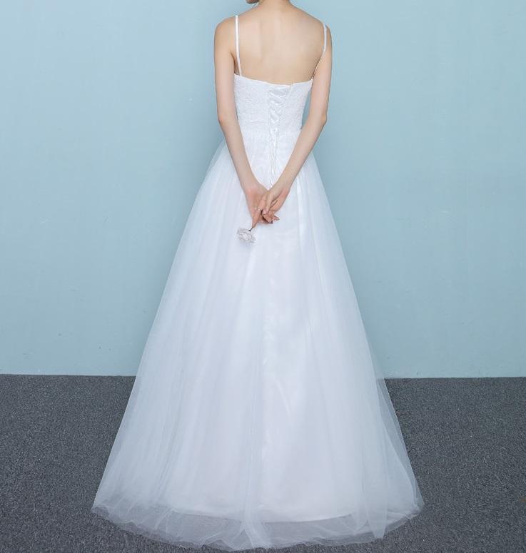 Dlhé svadobné šaty - 10 veľkostí - Obrázok č. 3