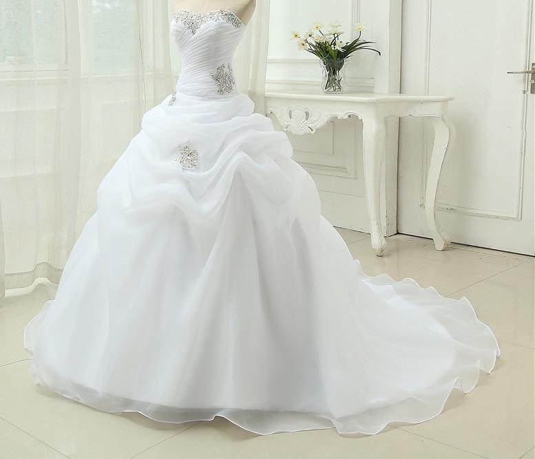 Dlhé svadobné šaty - 8 veľkostí, 2 farby - Obrázok č. 1