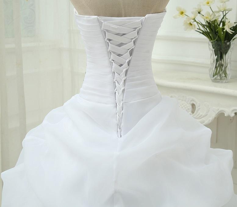 Dlhé svadobné šaty - 8 veľkostí, 2 farby - Obrázok č. 4