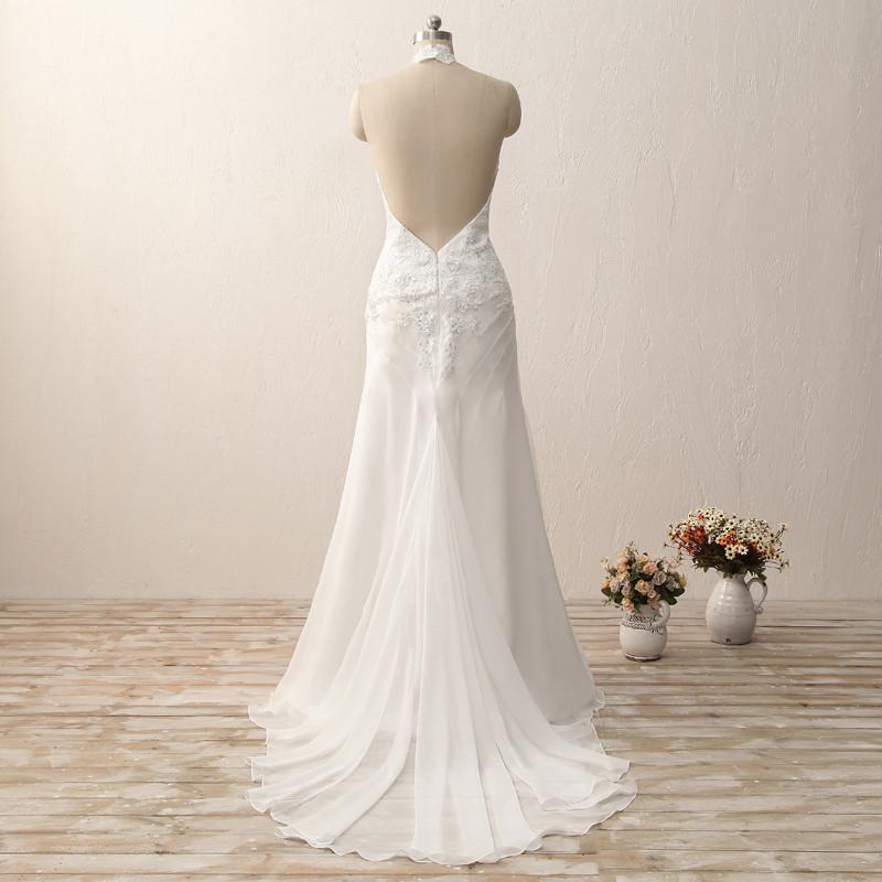 Dlhé svadobné šaty - 7 veľkostí, 2 farby - Obrázok č. 3