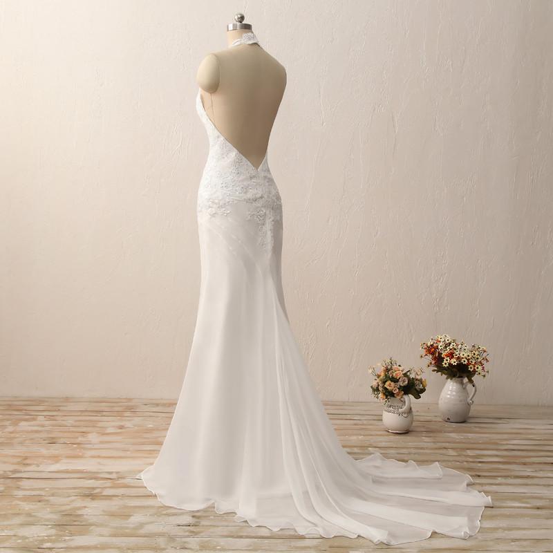 Dlhé svadobné šaty - 7 veľkostí, 2 farby - Obrázok č. 4