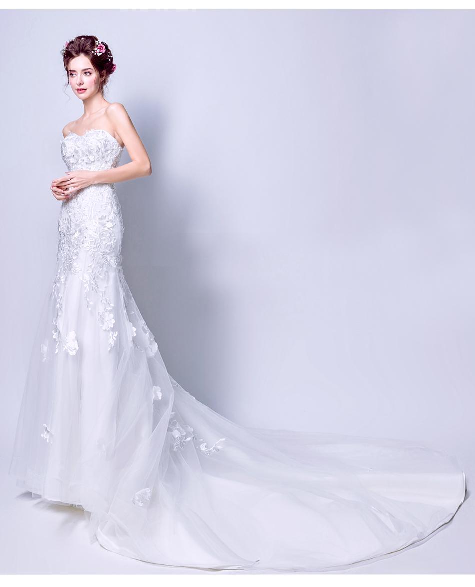 Dlhé svadobné šaty - 7 veľkostí - Obrázok č. 1
