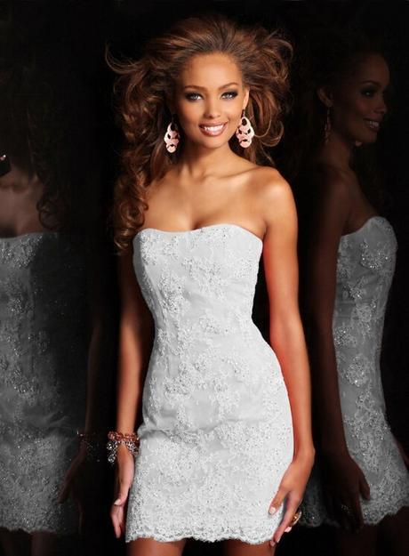 Dlhé/krátke svadobné šaty-17 veľkostí,2 farby-2v1 - Obrázok č. 3