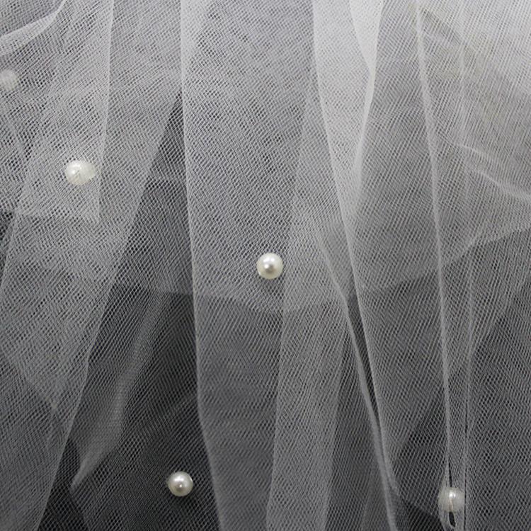 Závoj s perličkami - viacvrstvový - 2 farby - Obrázok č. 2