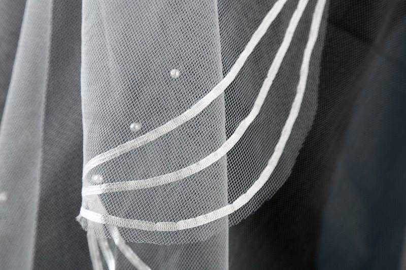 Španielsky závoj s perličkami - 2 farby - Obrázok č. 3