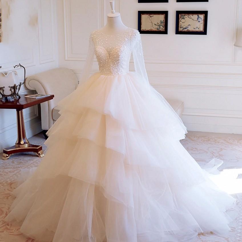 Dlhé svadobné šaty - 8 veľkostí, 12 farieb - Obrázok č. 1