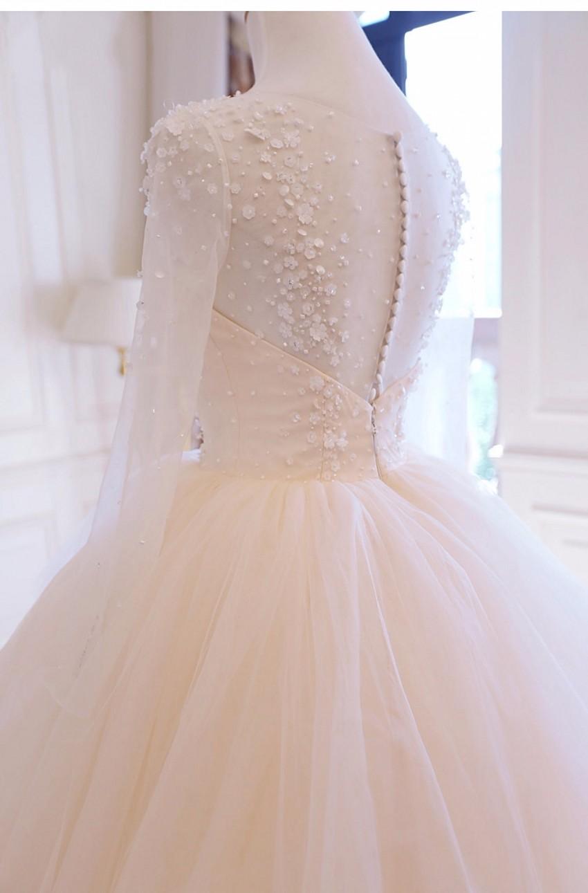 Dlhé svadobné šaty - 8 veľkostí, 12 farieb - Obrázok č. 4