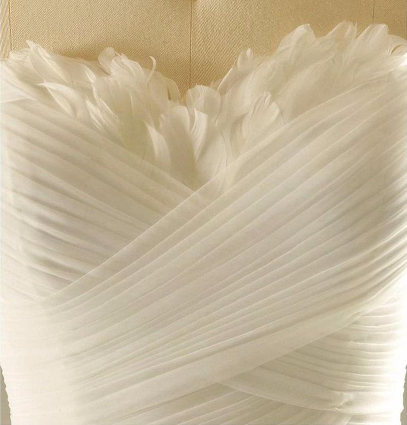 Dlhé svadobné šaty s perím- 12 veľkostí, 17 farieb - Obrázok č. 3