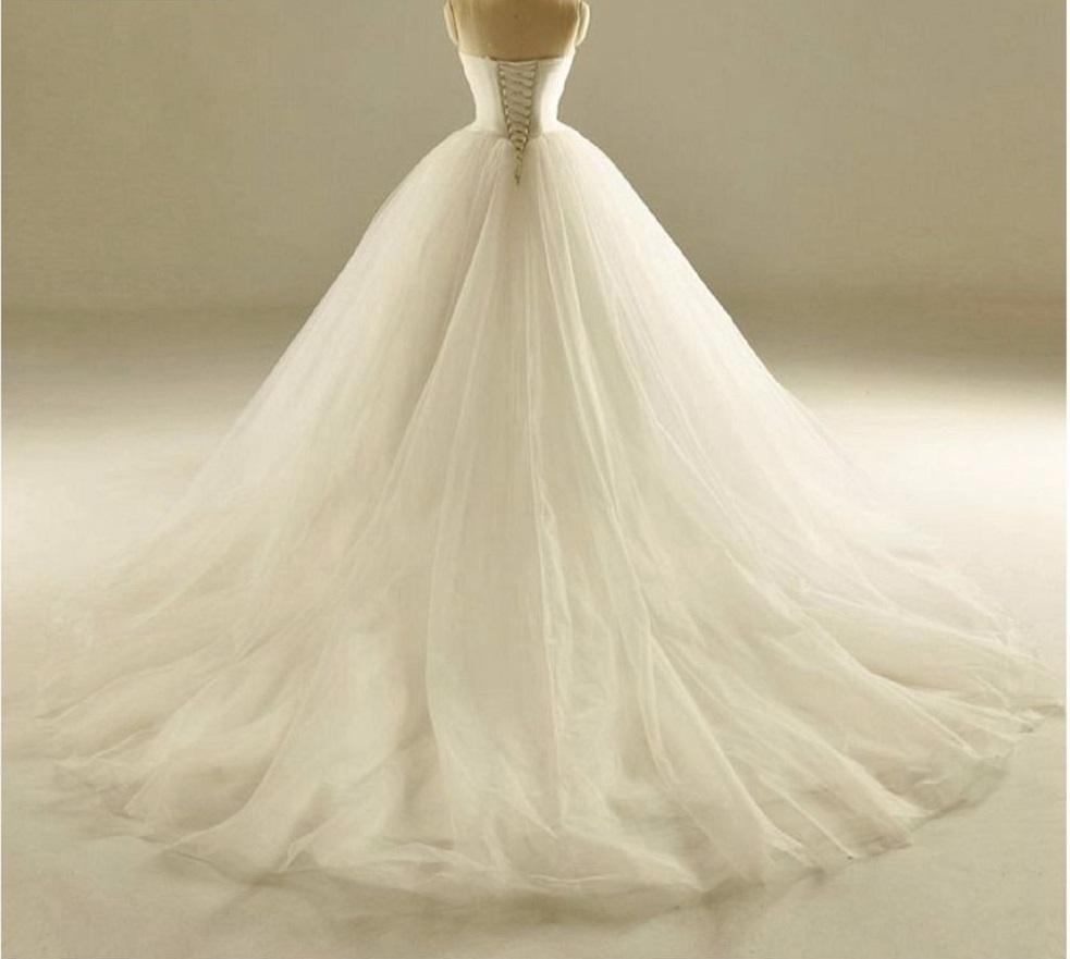 Dlhé svadobné šaty s perím- 12 veľkostí, 17 farieb - Obrázok č. 4