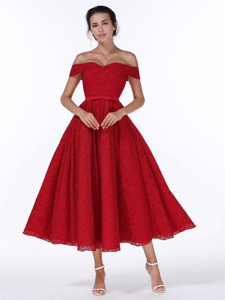 Midi popolnočné resp. spoločenské šaty-4 veľkosti - Obrázok č. 1