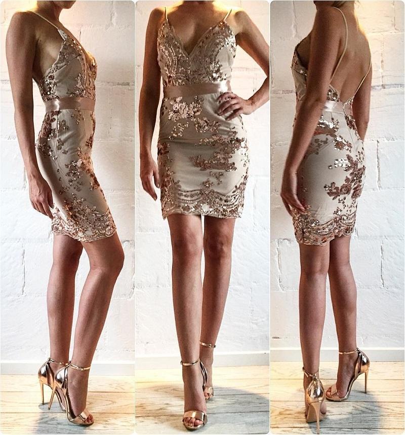 Krátke spoločenské šaty - 4 veľkosti, 3 farby - Obrázok č. 2