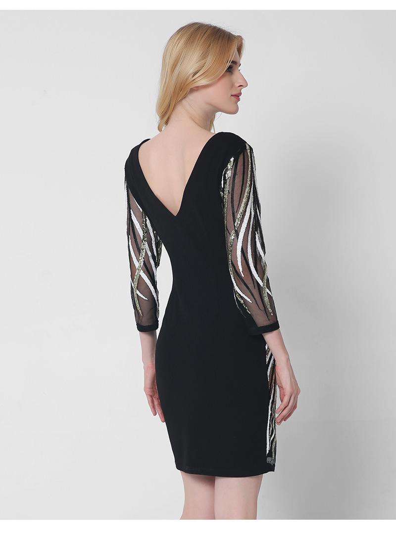 Krátke spoločenské šaty - 5 veľkostí - Obrázok č. 2