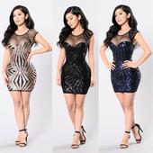 Krátke spoločenské šaty - 4 veľkosti, 3 farby, 38
