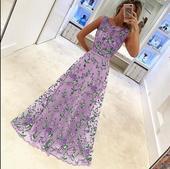 Dlhé spoločenské šaty - 5 veľkostí, 4 farby, 40