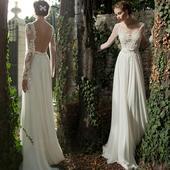 Dlhé svadobné šaty - 8 veľkostí - 2 farby, 38