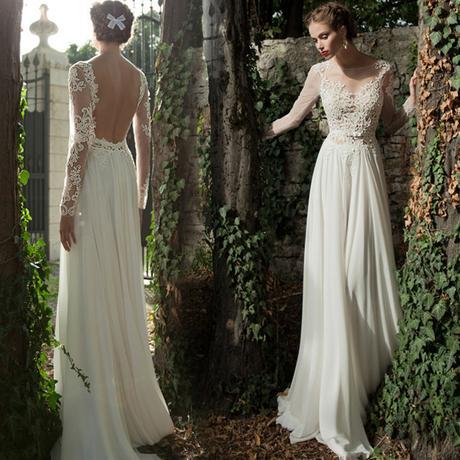 Dlhé svadobné šaty - 8 veľkostí - 2 farby - Obrázok č. 1