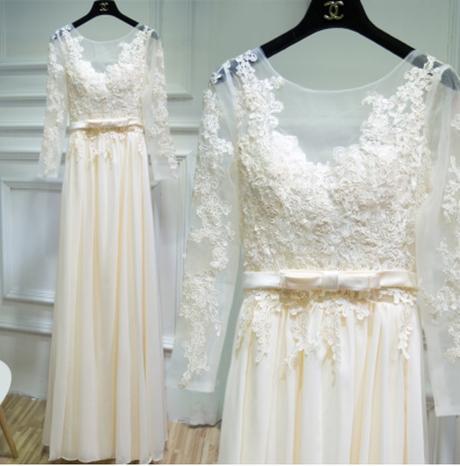 Dlhé svadobné šaty - 8 veľkostí - 2 farby - Obrázok č. 3