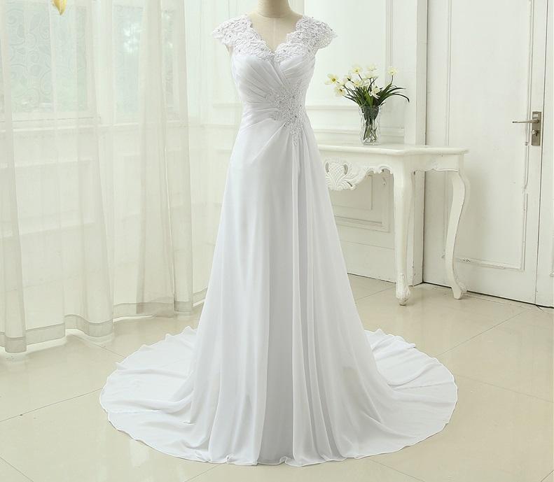 Dlhé svadobné šaty - 12 veľkostí, 8 farieb - Obrázok č. 1