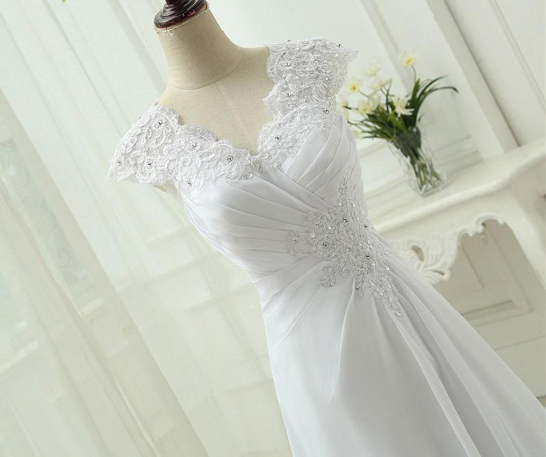 Dlhé svadobné šaty - 12 veľkostí, 8 farieb - Obrázok č. 2