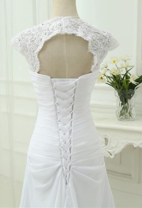 Dlhé svadobné šaty - 12 veľkostí, 8 farieb - Obrázok č. 3