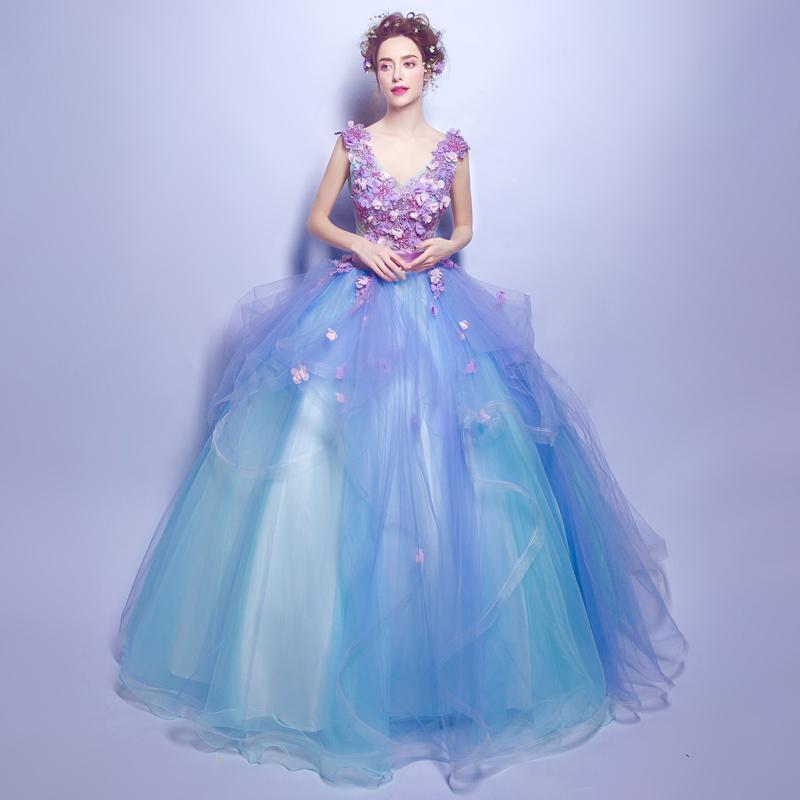 Extravagantné dlhé svadobné šaty - 4 veľkosti - Obrázok č. 1