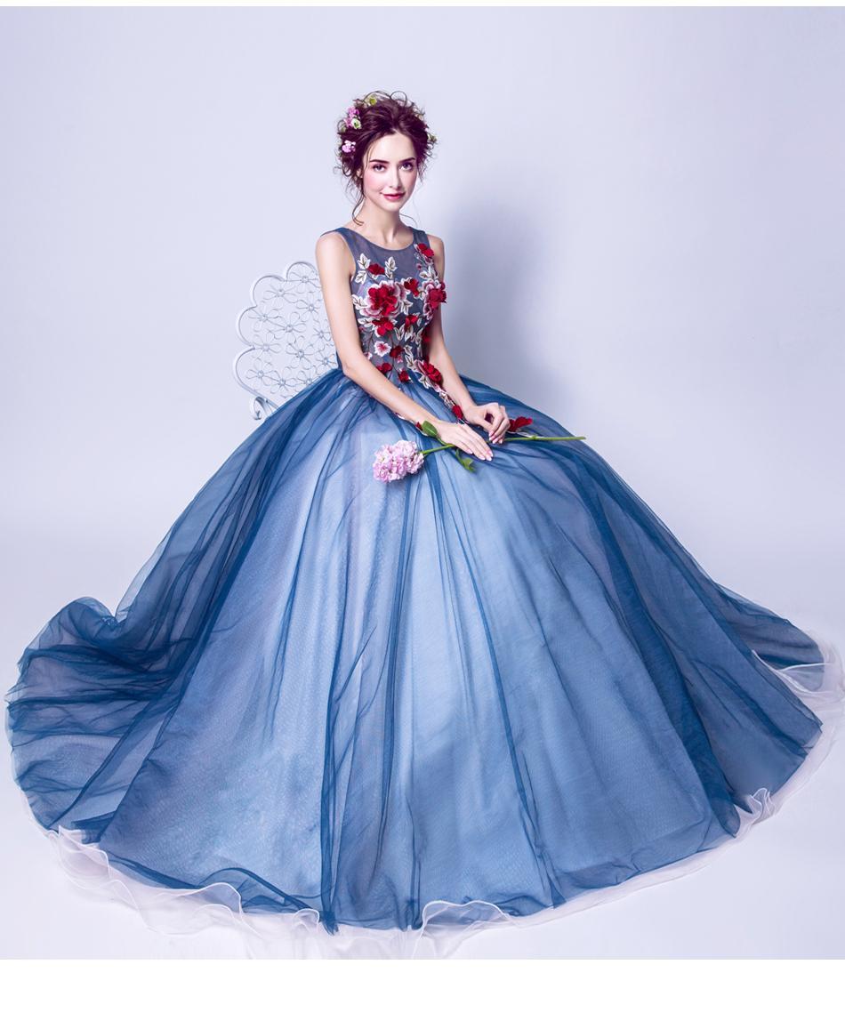 Extravagantné dlhé svadobné šaty - 7 veľkosti - Obrázok č. 1