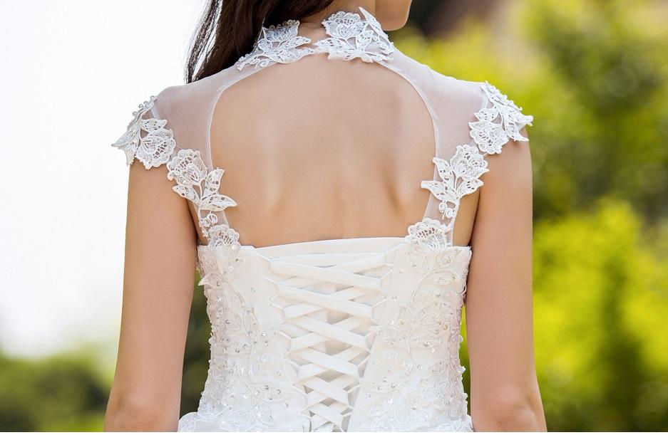 Dlhé svadobné šaty - 7 veľkostí - Obrázok č. 4
