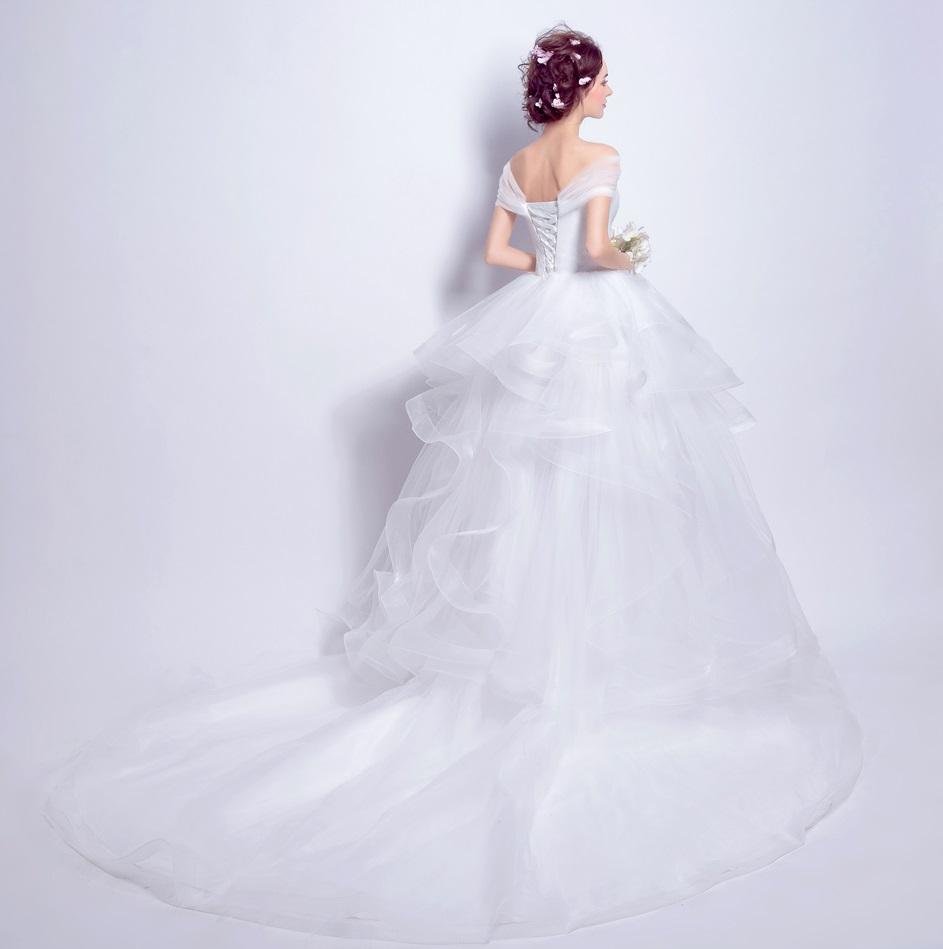 Asymetrické svadob./popol. šaty - 7 veľkostí - Obrázok č. 2