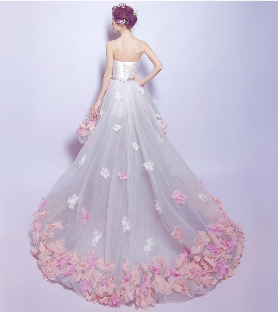 Asymetrické svadobné šaty - 8 veľkostí, 3 farby - Obrázok č. 3