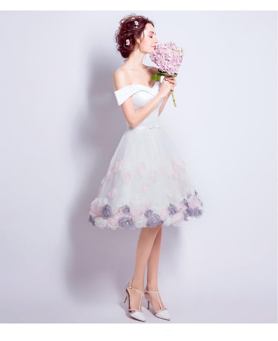 Krátke svadobné/popolnoč. šaty-6 veľkostí - Obrázok č. 2