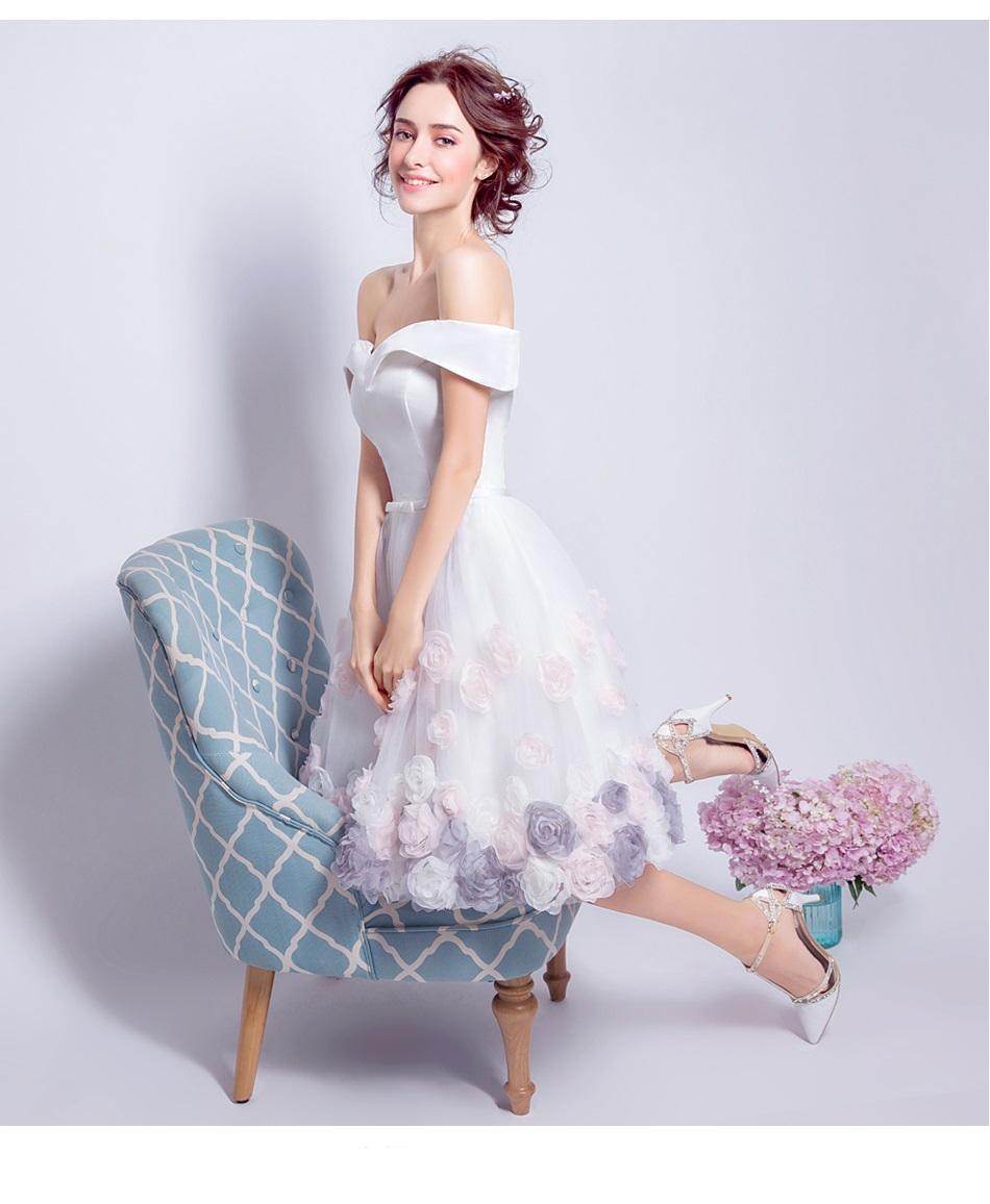 Krátke svadobné/popolnoč. šaty-6 veľkostí - Obrázok č. 3