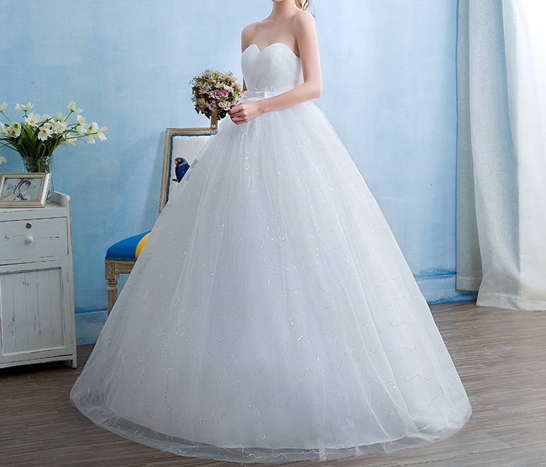 Dlhé svadobné šaty - 15 veľkostí - Obrázok č. 1