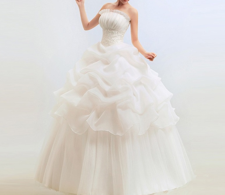 Dlhé svadobné šaty - 15 veľkostí, 2 farby - Obrázok č. 1