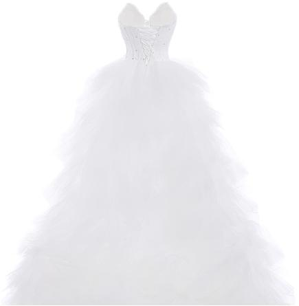 Asymetrické svadobné šaty - 7 veľkostí - Obrázok č. 4