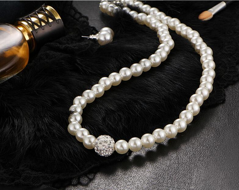 Perlový set - náramok, náušnice a náhrdelník - Obrázok č. 2