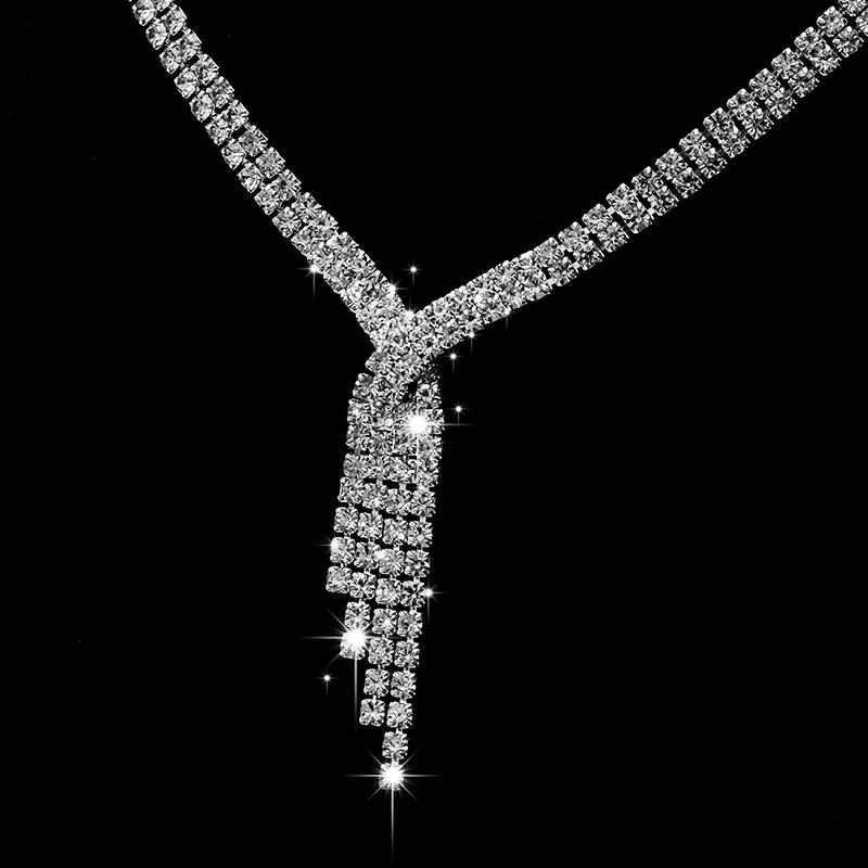 Štrasový set - náučničky a náhrdelník - Obrázok č. 2
