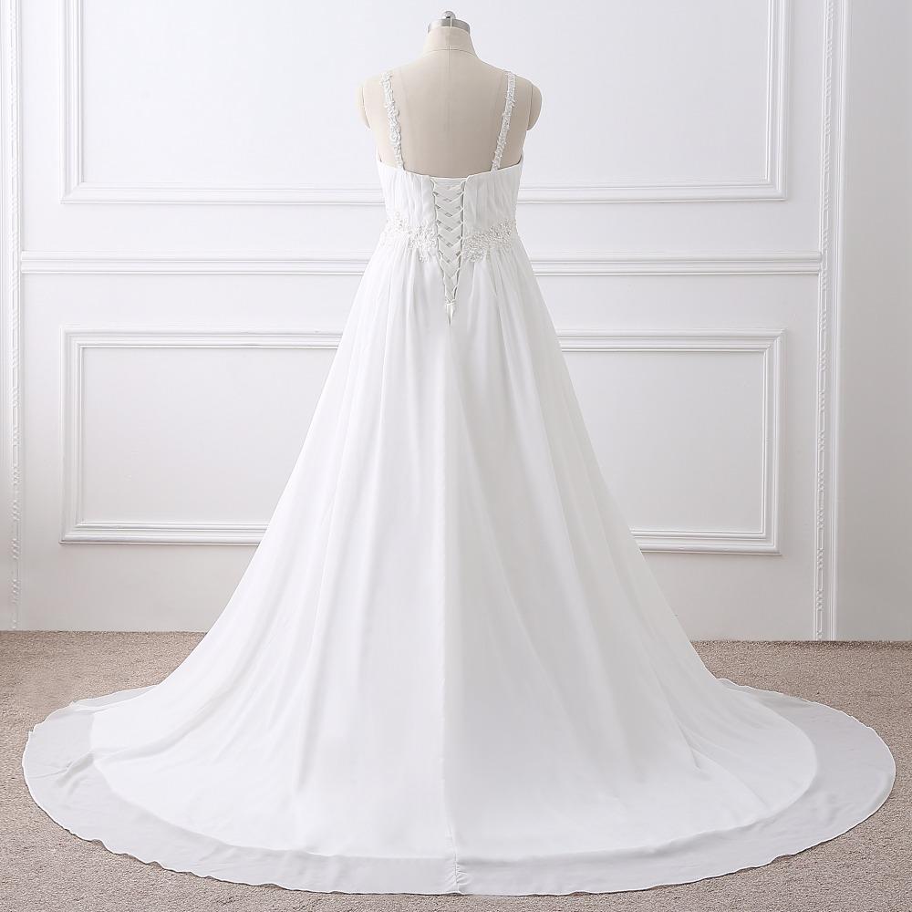 Dlhé svadobné šaty-16 veľkostí,2 farby,pre tehotné - Obrázok č. 2
