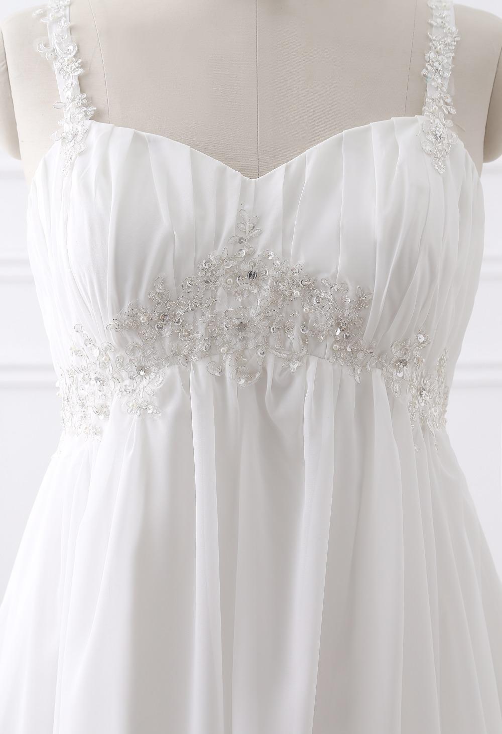 Dlhé svadobné šaty-16 veľkostí,2 farby,pre tehotné - Obrázok č. 3