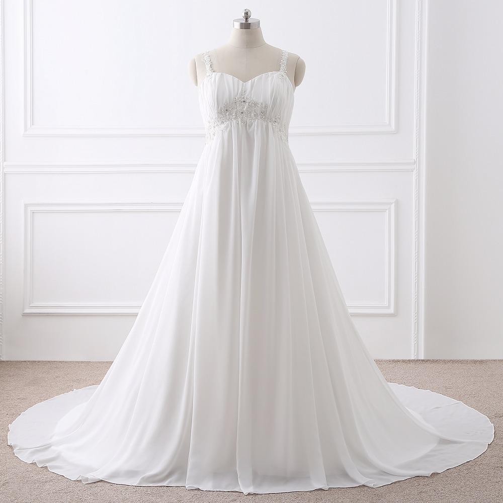 Dlhé svadobné šaty-16 veľkostí,2 farby,pre tehotné - Obrázok č. 4